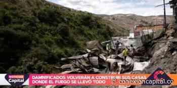 Damnificados volverán a construir sus casas en Caracolí tras incendio - Canal Capital