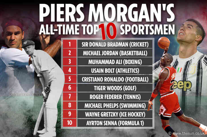 Good Morning Britain host Piers Morgan names his sport GOAT list… and leaves Lionel Messi and NFL icon Tom Brady OUT