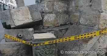 Conductor de camión tumbó importante monumento histórico en Monguí, Boyacá - Noticias Caracol