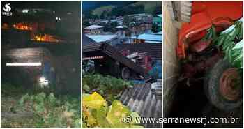 Caminhão desce morro e atinge residência em distrito de Bom Jardim - Serra News