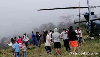 Al menos 50 personas retuvieron un helicóptero en Palocabildo, Tolima - Caracol Radio