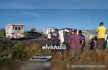 Camión cargado de ketchup se volcó en la vía Cantaura - El Tigre - Diario El Vistazo
