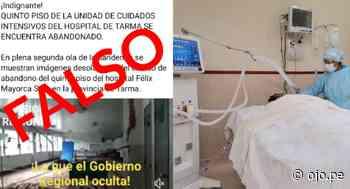 Desmienten que sala UCI del hospital de Tarma esté abandonada - Diario Ojo