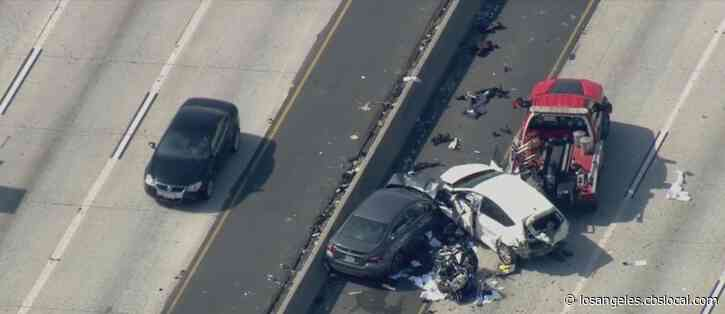 CHP Officer Seriously Hurt In Wreck Near Downtown LA; Driver Arrested For DUI