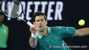 Australian Open 2021: Novak Djokovic dominates Jeremy Chardy again to reach 2nd round - India TV News