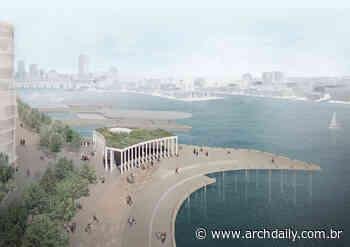 Pavilhão no porto de Sydney será construído com conchas de ostras recicladas - ArchDaily Brasil