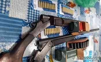 Espingardas e munições são apreendidas durante ação policial em Itaituba - G1