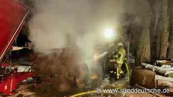 250 Kühe bei Brand in Stall gerettet - Süddeutsche Zeitung