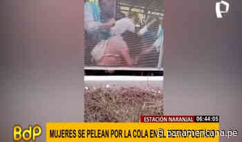 Metropolitano: dos mujeres se pelean frente a usuarios en estación Naranjal   Panamericana TV - Panamericana Televisión