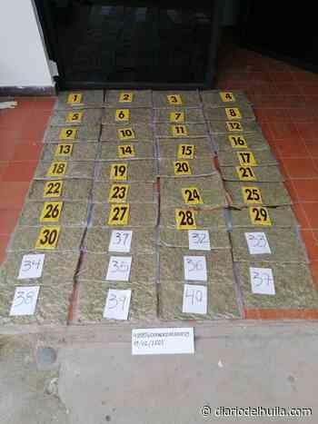Capturados dos hombres con 20 kilos de marihuana en Yaguará - Diario del Huila