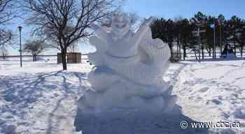 City of Dorval installs custom snow sculptures to encourage residents to get outside - CBC.ca