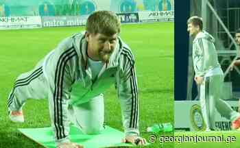 Go, Ramzan! – Kadyrov scores a goal at a Grozny football training session - Georgianjournal