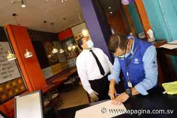 Verifican cumplimiento de medidas sanitarias en restaurantes de Antiguo Cuscatlán - Diario La Página