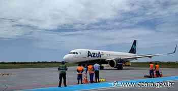 Aeroporto de Aracati recebe seu primeiro pouso de um Airbus A320Neo - Ceará