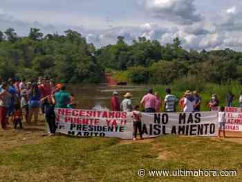 Vecinos de Los Cedrales y Minga Guazú piden traslado de un puente - ÚltimaHora.com