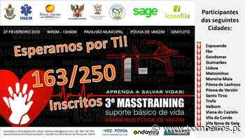 B.V.Povoa de Varzim organizam 3º Masstraining de Suporte Básico de Vida - Bombeiros Portugueses