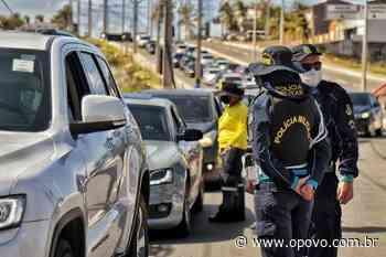 Em Aquiraz, barreiras impedem desde ônibus fretados, carros com mais de 5 pessoas ou quem não resida no município - O POVO