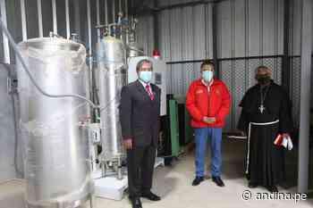 Huamachuco estrena segunda planta de oxígeno medicinal | Noticias | Agencia Peruana de Noticias Andina - Agencia Andina