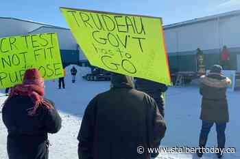 """Protestors chant """"End the lockdown"""" at Enough is Enough rally in Westlock - St. Albert Today"""