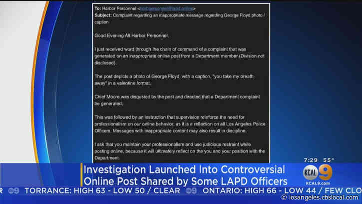 LAPD Launches Probe Into Post Depicting George Floyd With 'You Take My Breath Away' Caption
