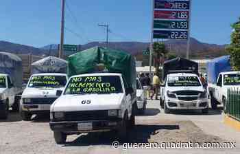 Se suman transportistas de Tixtla a protestas por alza de gasolina - Quadratín Michoacán