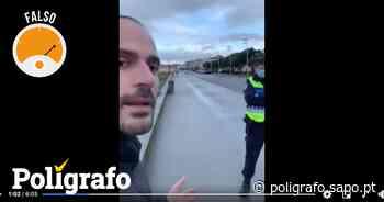 Homem foi impedido ilegalmente de passear na marginal de Vila do Conde? - Polígrafo - Polígrafo