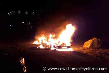 UPDATED with PHOTOS: RCMP investigating vehicle arson in Shawnigan Lake - Cowichan Valley Citizen