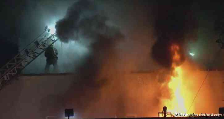 Greater-Alarm Apartment Fire Erupts In South LA