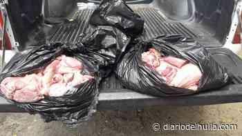 Incautada carne almacenada de manera irregular en Aipe - Diario del Huila