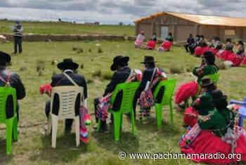 Autoridades originarias de Ilave se instruyen para afrontar a la covid-19 - Pachamama radio 850 AM