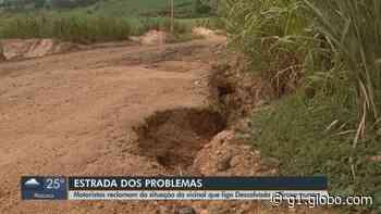 Motoristas reclamam da situação de vicinal que liga Descalvado a Pirassununga - G1