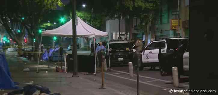 Man Dead In Downtown LA Shooting, Gunman At Large