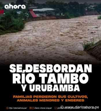 Río Tambo y Urubamba se desbordan - DIARIO AHORA