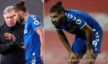Everton's Dominic Calvert-Lewin ruled out of Manchester City clash but may return to face Liverpool