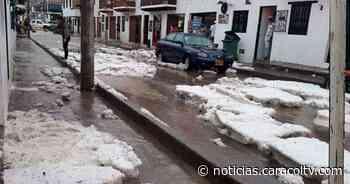 Villa de Leyva se vistió de blanco: fotos y videos de fuerte granizada en la ciudad - Noticias Caracol