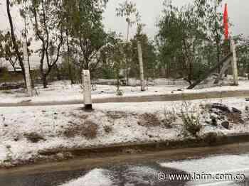 Villa de Leyva bajo el hielo: fuerte granizada en la ciudad turística - La FM
