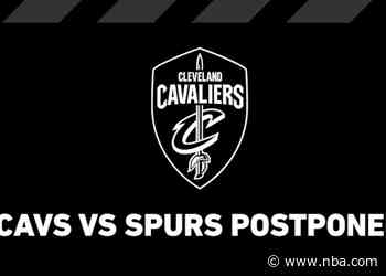 Cleveland vs San Antonio Game Postponed