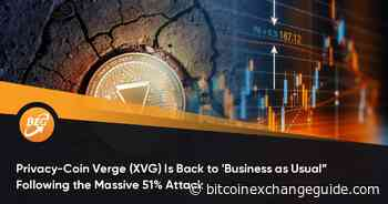 """Privacy-Coin Verge (XVG) Is Back to 'Business as Usual"""" Following the Massive 51% Attack - Bitcoin Exchange Guide"""