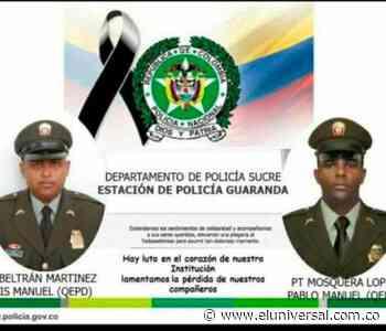 Asesinaron a bala a dos policías en Guaranda, región de la Mojana - El Universal - Colombia