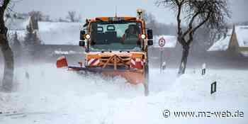Winter in Hettstedt: Schnee wird aus der Stadt gefahren - Mitteldeutsche Zeitung