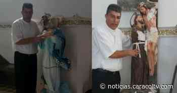 Ni el párroco ni la imagen de Jesucristo se salvaron de sacrílego ataque a parroquia de Liborina - Noticias Caracol