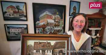 Elisabeth Karn malt historische Motive aus Ober-Ramstadt - Echo-online