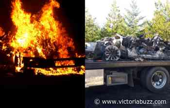 """Shawnigan Lake RCMP looking for witnesses in """"deliberate act"""" of vehicle arson - Victoria Buzz"""