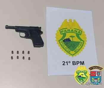 Policiais Militares de Salto do Lontra apreendem arma de fogo e munições após abordagem - CGN