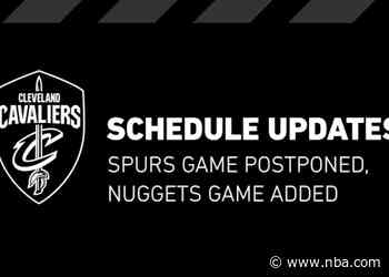 NBA Announces Cavaliers Schedule Changes
