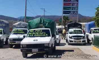 Transportistas de Tixtla demandan bajar precio de la gasolina - Enfoque Informativo