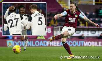 Burnley 1-1 Fulham: Ashley Barnes nets equaliser a minute after Aina gave Cottagers the lead