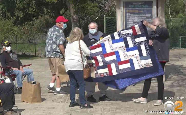 Handmade Quilts Presented To Vietnam Veterans In Manhattan Beach