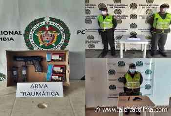 Incautaron armas de fuego, traumáticas y neumáticas en Dolores, Natagaima y Melgar - Alerta Tolima