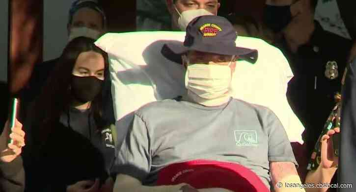 Firefighter Injured Battling Silverado Fire Released From Hospital After 17 Surgeries